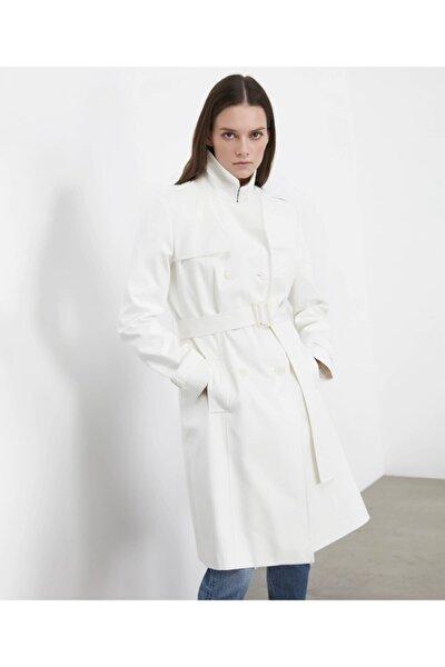 Kadın Kırık Beyaz Trençkot