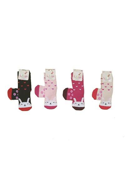 Kız Çocuk 3 Adet Taban Kaydırmaz Havlu Soket Çorap