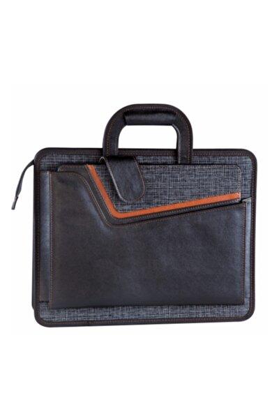 Sekreterlikli Evrak Çantası Laptop Bölmeli 40x31 Cm, 3 Bölmeli