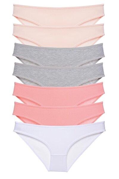 Kadın Soft Renkler 7'li Paket Bikini Külot