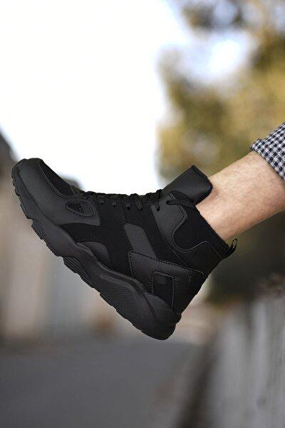Erkek Siyah Sneaker Bot 0012350