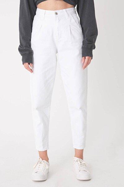 Kadın Beyaz Cep Detaylı Pantolon Pn6895 - Pnh Adx-0000023130
