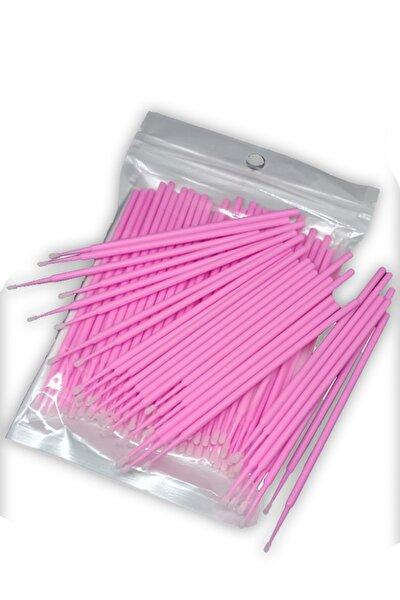 100 Adet Ipek Kirpik Microblading Kalıcı Makyaj Için Microbrush Fırçası 100 Adet