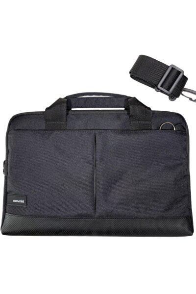 """13"""" - 13.3"""" Taban Korumalı, Omuz Askılı Macbook Air-pro Siyah Laptop Çantası"""