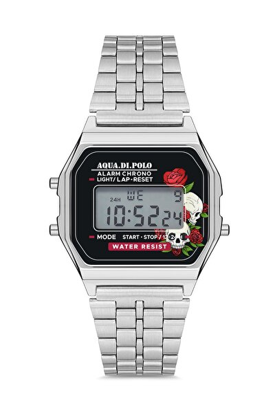 Kadın Gümüş Çiçekli Retro Metal Kol Saati Apwa033501