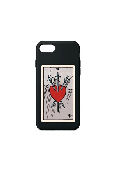 The Heart Premium Siyah Iphone 7/8/se 2020 Telefon Kılıfı