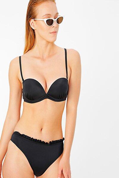 Kadın Siyah Bikini Üst 504722196