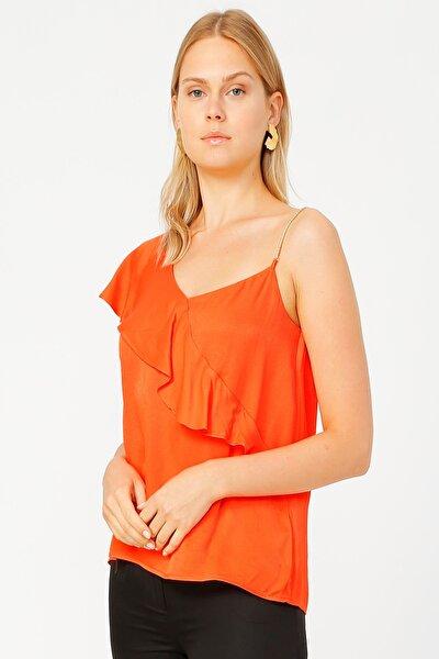 Kadın Oranj Bluz 504827644