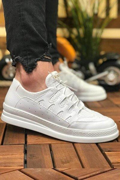 Erkek Beyaz Bağcıklı Sneaker