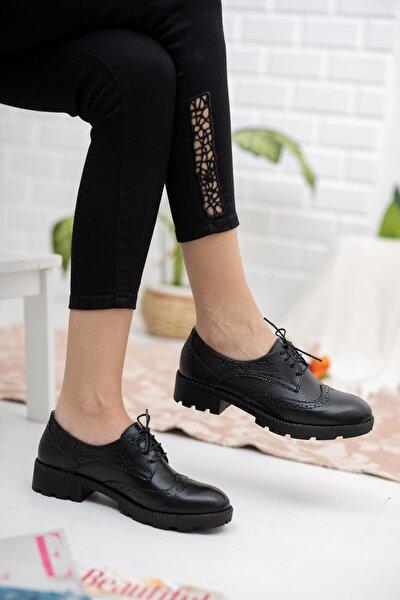 Hakiki Deri Günlük Oxford Kadın Ayakkabı
