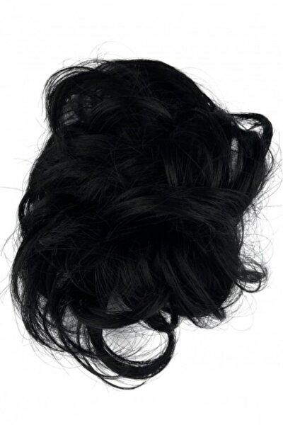 Siyah Lastikli Topuz Saç Toka