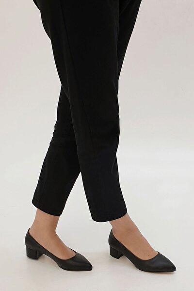 Kadın Siyah Apunte Klasik Topuklu Ayakkabı
