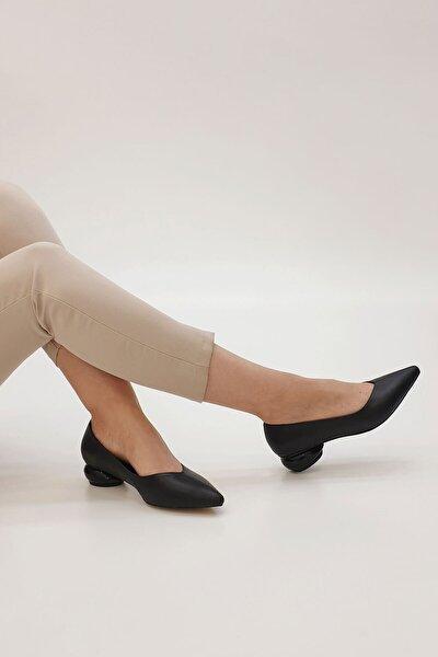 Kadın Siyah Evara Günlük Topuklu Ayakkabı