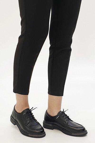 Kadın Siyah Laves Oxford Ayakkabı