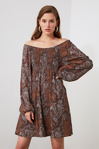 Çok Renkli Gipe Detaylı Elbise TWOAW21EL1658