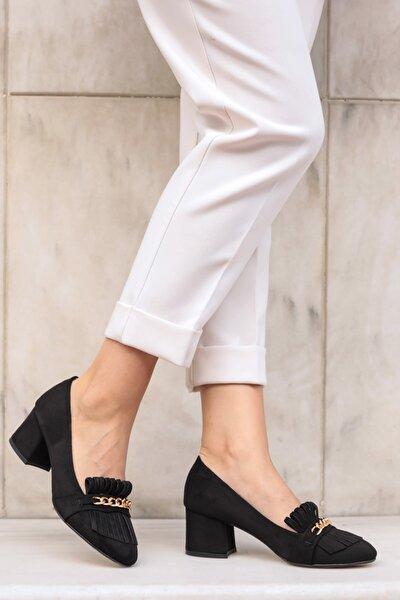 Siyah Kadın Topuklu Ayakkabı 01052BLS
