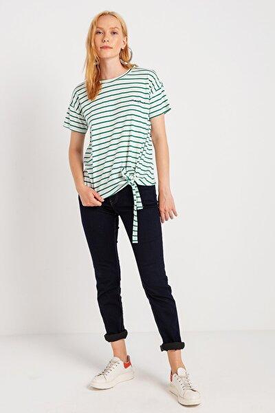 Kadın Önü Bağlamali T-Shirt 14-W00169-654