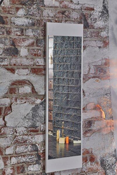 Boy Beyaz Duvar Salon Ofis Aynası 121 cmx36 cm