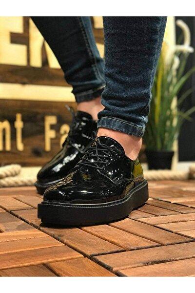 Erkek Siyah Klasik Rugan Ayakkabı