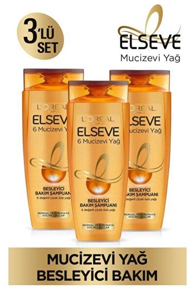 6 Mucizevi Yağ Besleyici Bakım Şampuan 450ml 3'lü Set