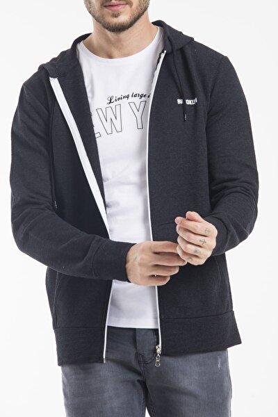 Erkek Antra Fermuarlı Sweatshirt Spr 2019K60