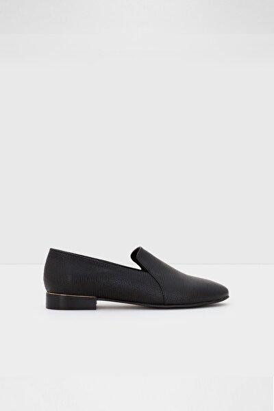 Kadın Siyah Rıramma Loafer Ayakkabı