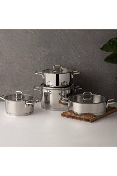 Silver Trend 8 Parça Çelik Tencere Seti