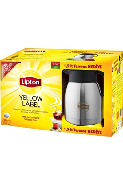 Yellow Label 750 Li Demlik Poşet Çay + Termos 1,5 Lt Hedıye