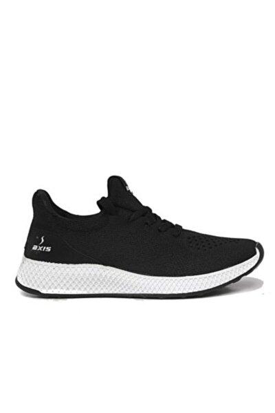Erkek Siyah Triko Örme Spor Ayakkabı