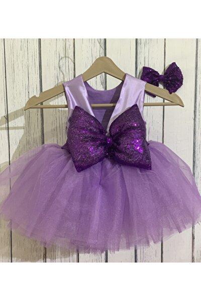 Kız Bebek Lila Kabarık Elbise