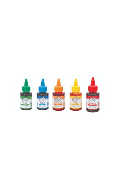 Dr Gusto 5 Li Sıvı Gıda Boyası 5 X 60 Gr Sarı Kırmızı Mavi Turuncu Yeşil