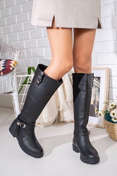 Kadın Siyah Çizme Lmyn0006