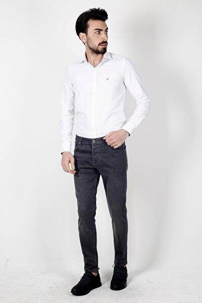 Antrasıt Ekstra Extra Slim Fit  5 Cep Kot Pantolon