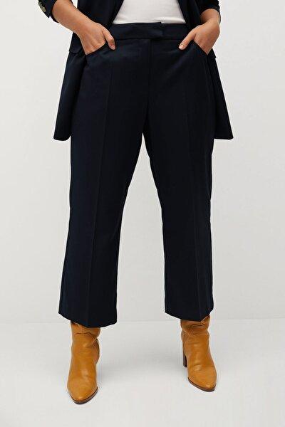 Kadın Lacivert Kısa İspanyol Paçalı Pantolon 77065933