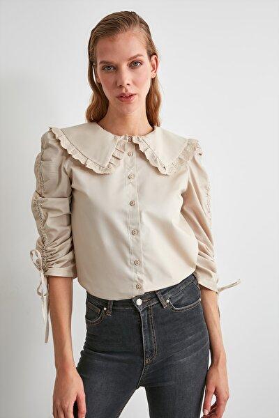 Taş Dantel Şeritli Gömlek TWOAW21GO0519
