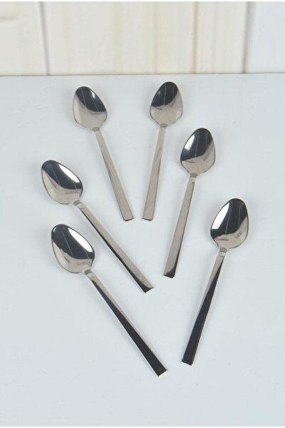 Çay Kaşık Çubuk Model Sade 12 Li Kutu Paslanmaz Çelik