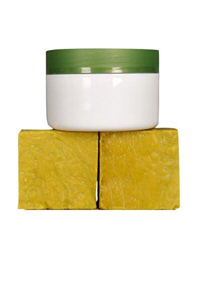 250 Gr( 2 Kalıp) Yeşil Siirt Bıttım Sabunu + 1 Adet Bıttım Kremi