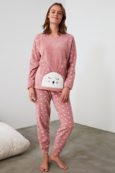 Pudra Nakışlı Wellsoft Pijama Takımı THMAW21PT0666
