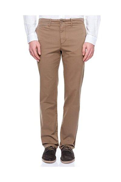 Erkek Kahverengi Regular Fit Chino Pantolon