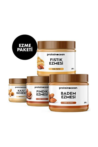 Ezme Paketi ( Fıstık & Fındık & Badem & Kaju Ezmeleri 1'er Paket ) - 3121000887