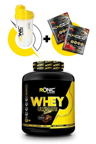 Ultimate Whey Protein Tozu 2270 gr Çikolata Aromalı+ Shaker Ve 2 Adet Tek Kullanımlık Whey Protein