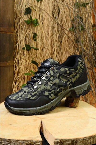 Erkek Haki Outdoor Trekking Yürüyüş Ayakkabısı Rj1000