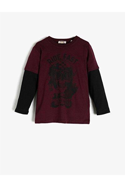Bordo Erkek Çocuk T-Shirt