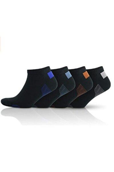 4 Lü Dikişsiz Terleme Önleyici Siyah Kısa Çorap