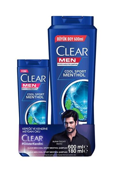 Men Cool Sport Menthol Şampuan 600 ml + 180 ml Şampuan Hediye