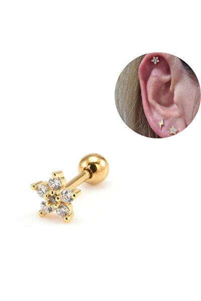 Gold Çiçek Piercing