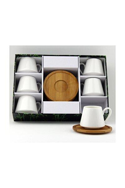 Porselen Bambu Tabak Kahve Fincan Takımı 2592