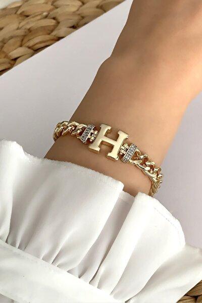 Gold H Harf Bileklik Trbilek7543 B34003