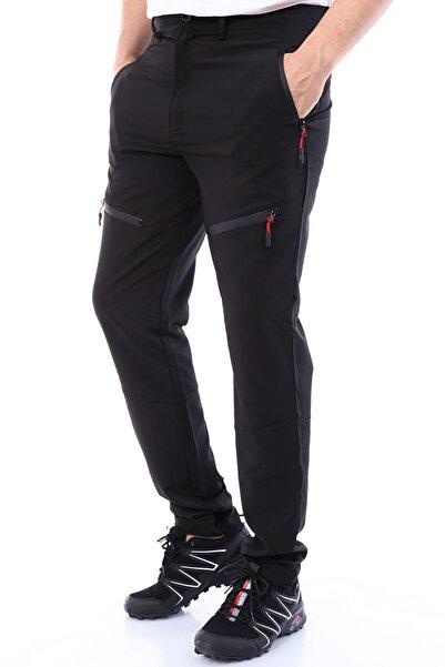 Erkek Tactical Ayarlanabilir Paçalı 5 Cepli Yazlık Paraşüt Siyah Outdoor Pantolon