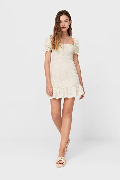 Kısa Elastik Elbise